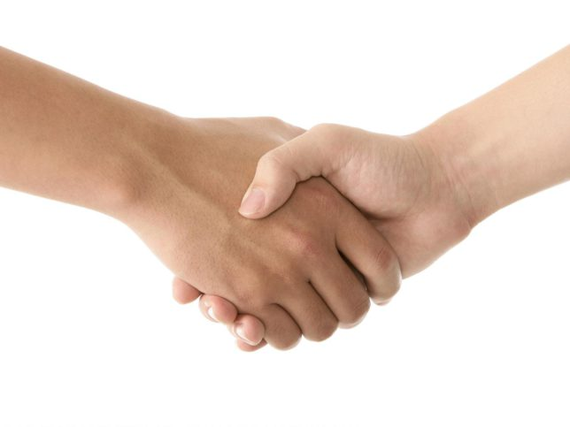 握手して離さない暴漢を一瞬で拘束する護身術