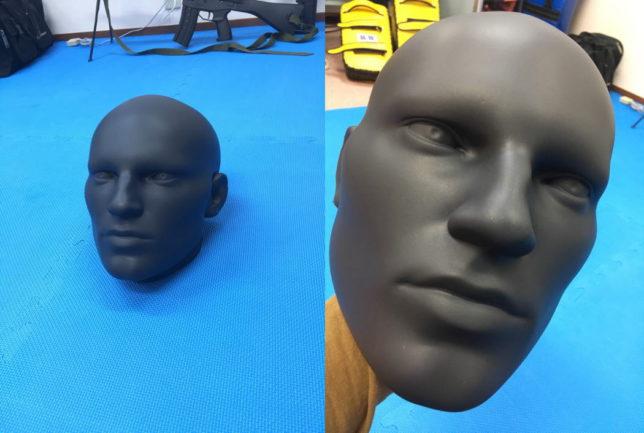 顔型ミットでカパプバイタルポイント攻撃トレーニング