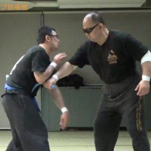 護身術対ナイフ逆手~スパーリング&約束組手